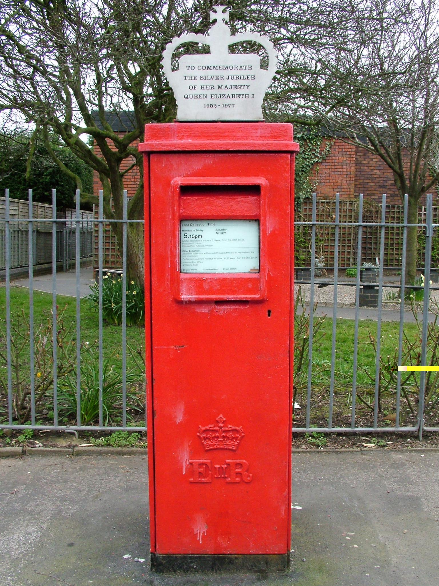 E2R pillar box, 1970s, Lancs. Gerry Cork