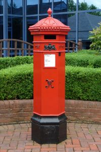 E2R replica VR Penfold pillar box, 1990s. Andrew R Young