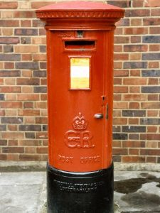 E8R pillar box, 1930s, South East England. Martin Robinson