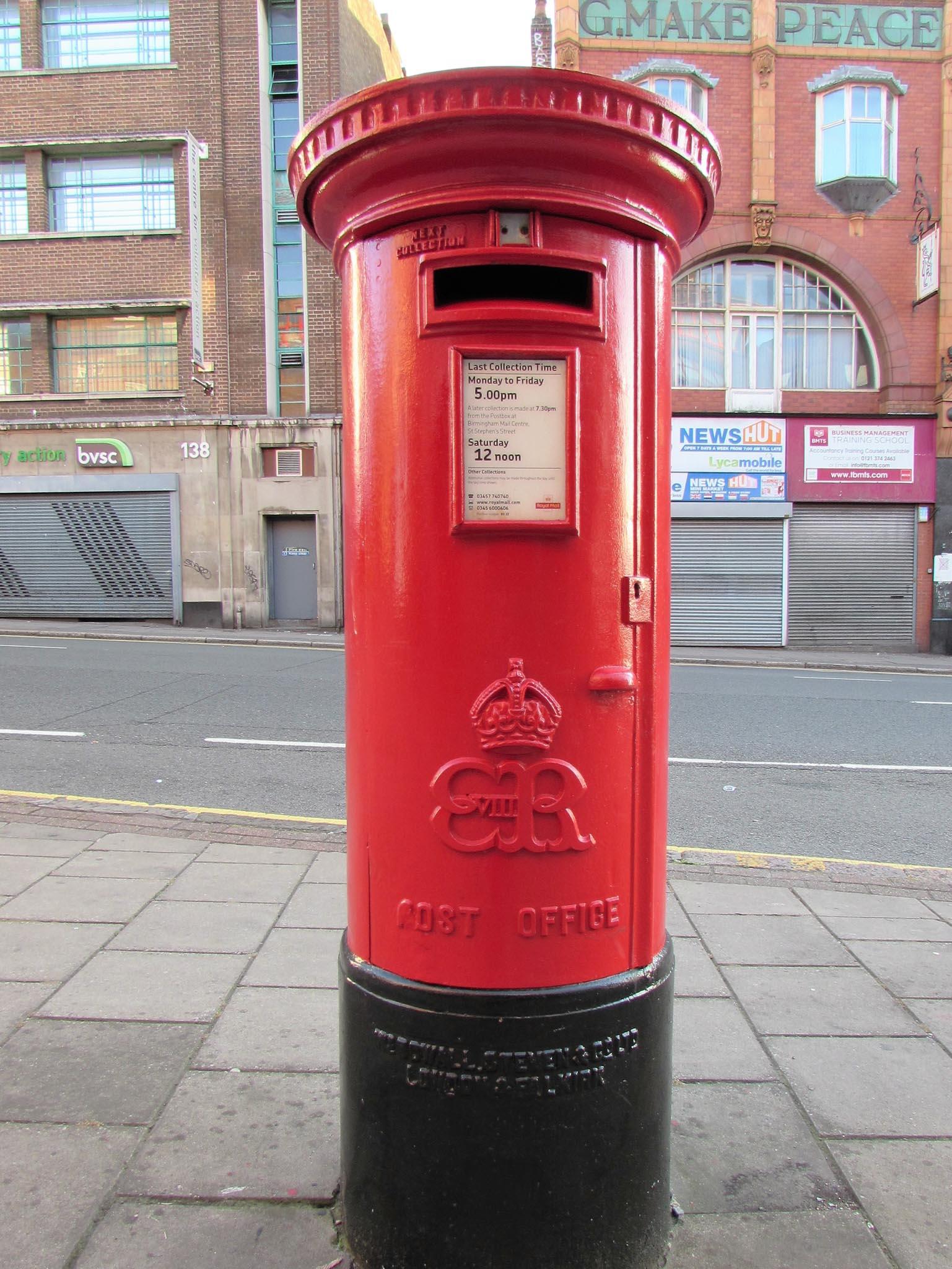E8R pillar box, 1930s, Birmingham. Deb Jones