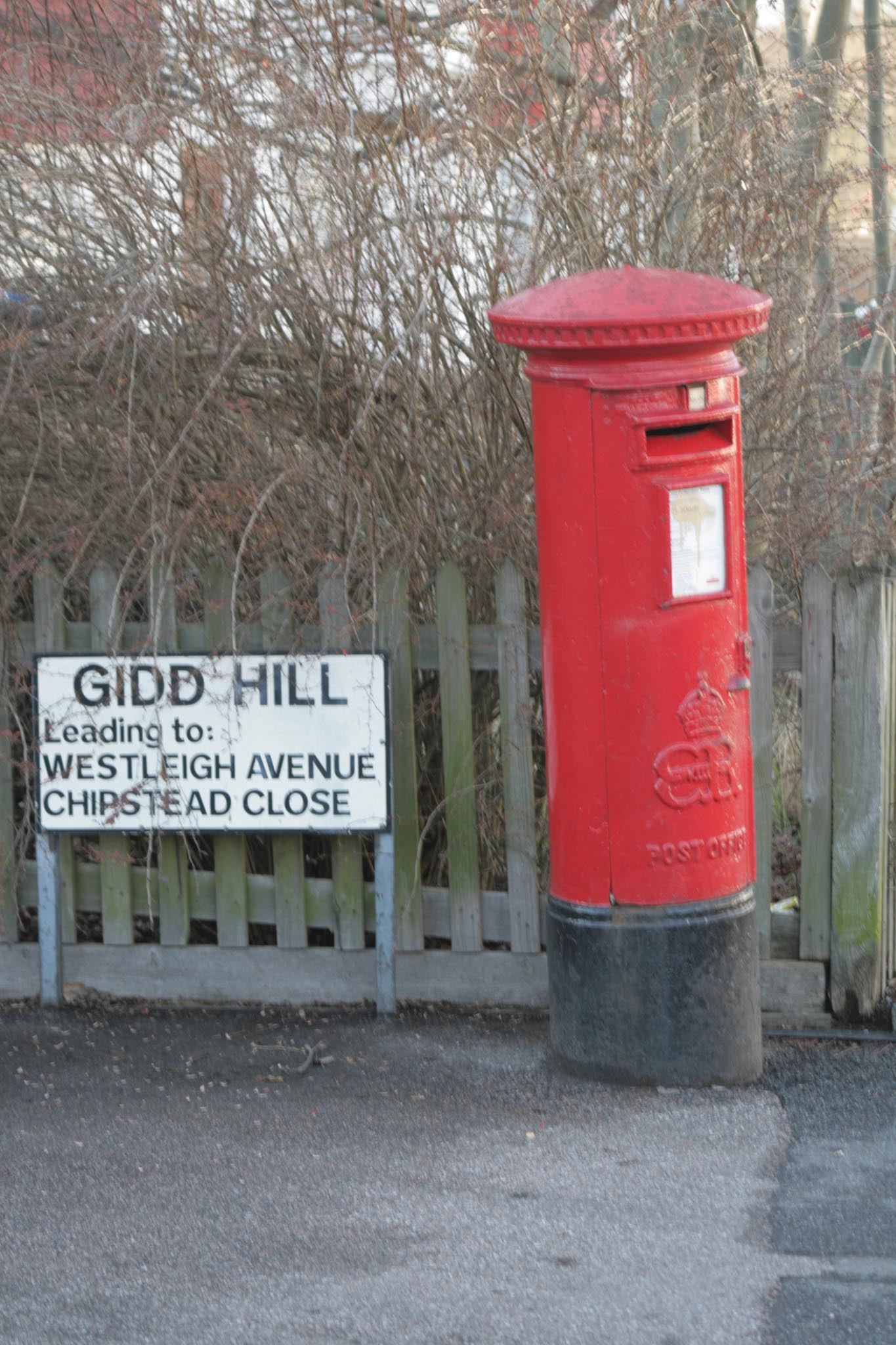 E8R pillar box, 1930s, Surrey, Robert Cole