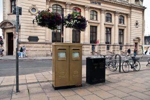 E2R twin pillar boxes, 1970s, Cheltenham. Doug Fennell