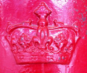 ER Scottish crown pillar box cipher. Robert Cole