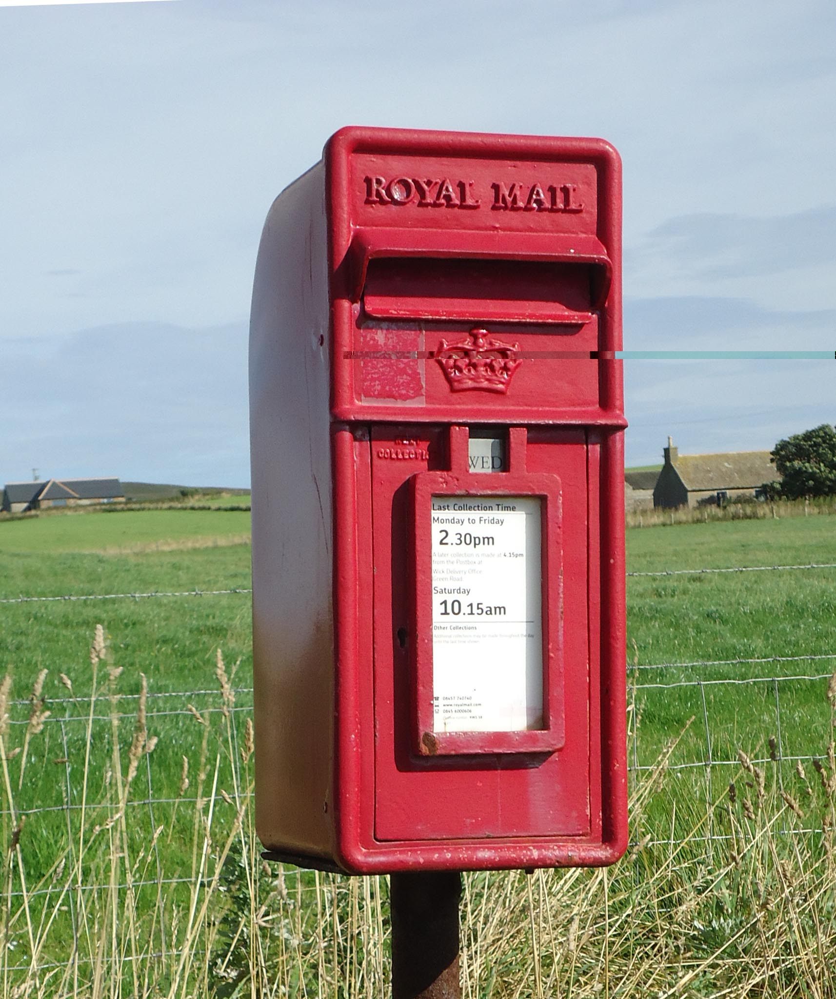 ER/Scottish Crown lamp box, 2000s, North Scotland. Bob Drummond