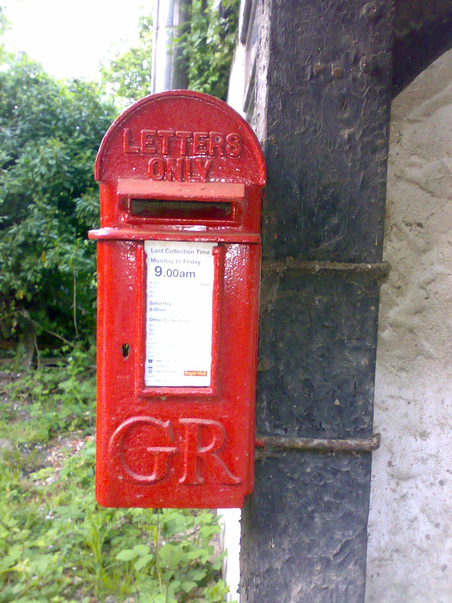 GR lamp box, 1920s, Surrey. Robert Cole