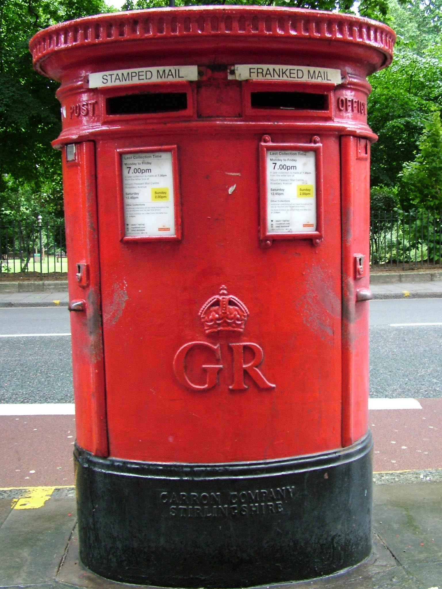 GR pillar box 1930s, London. Gerry Cork