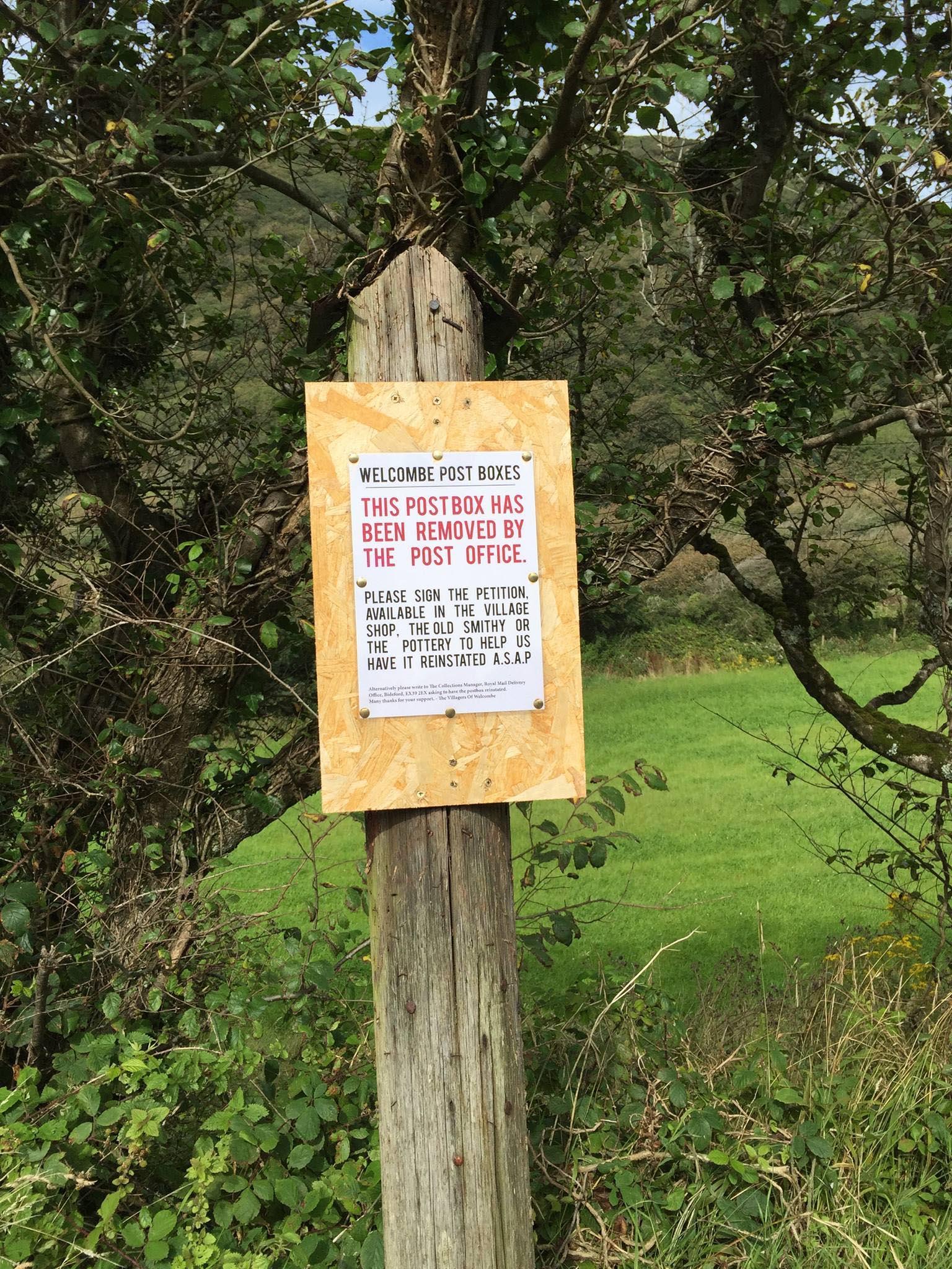 Notice, 2010s, Devon.