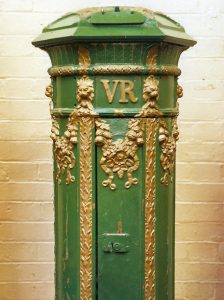VR London Ornate pillar box, 1850s. Martin Robinson